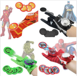 Wholesale Spider man Batman Superhero Launchers Gloves Cosplay Weapon Kids Boys Toys Gifts