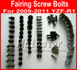 Chinese  New Cheap Motorcycle Fairing screws bolt kit for YAMAHA 2009 2010 2011 YZFR1 YZF R1 09 10 11 black aftermarket fairings bolts screw parts manufacturers