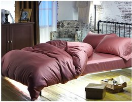 Cotton Bedsheets King Size NZ - Luxury 100% Egyptian cotton bedding sets sheets queen cameo brown duvet cover king size quilt double bed in a bag bedsheets linen gift