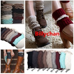 Barato Botas De Crochet Casual-Crochet Boot Cuff Mulheres Knitted Boot Cuff Boot Toppers Mulheres Crochet Botão Down Boot Cuffs Inverno polainas para as mulheres 120lot
