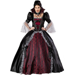 vampire woman costume movie Canada - Queen Of The Vampires costume adult halloween costumes for women sexy cosplay black gothic lolita dress fantasy women wholesale