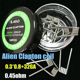 Venta al por mayor de Alambres de calefacción Clapton bobina de alambre Hive Tiger Quad Trenzado plano Mezclado trenzado trenzado Fusionado clapton Alien para Vape RDA RBA MOD
