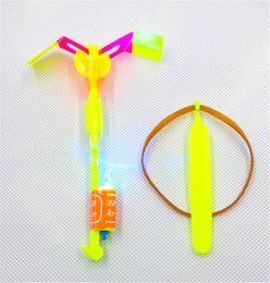 wholesale toy flying ufo 2019 - LED Arrow Helicopter LED Amazing Arrow Flying Helicopter Umbrella Kids Toys Space UFO LED Light Toys Christmas Halloween