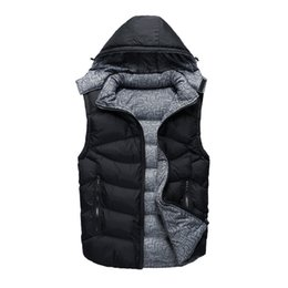 $enCountryForm.capitalKeyWord NZ - Free send Men PoLo cotton wool collar hooded down vests sleeveless jackets plus size quilted vests Men PAUL vests outerwear,L-4XL