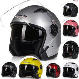 Half Helmet Models NZ - 2016 New model JIEKAI 512 half face double lens Harley style motorcycle  motorbike helmet of ABS FREE SIZE 55-60 cm
