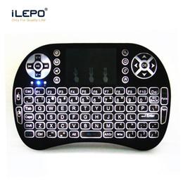 Clavier sans fil rétroéclairé 2.4G Mini Rii i8 avec TouchPad Air Mouse Clavier de jeu rétroéclairé pour mini PC Tablette Android tv box