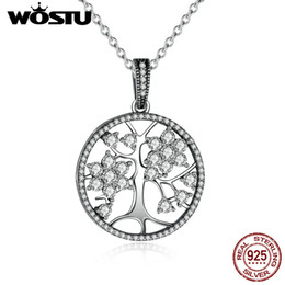 stainless steel jewelry tree 2019 - Hot Sale 100 %Real 925 Sterling Silver Family Tree Pendant Necklaces For Women Fine Jewelry Gift Crn013 discount stainle