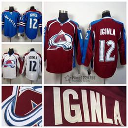 09cf91cec5d 2016 new mens colorado avalanche hockey jerseys 12 jarome iginla jersey  home burgundy ...