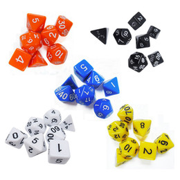 dungeons dragons dice 2018 - 7pcs Set Polyhedral Dungeons & Dragons Daggerdale Dice For DnD MTG RPG D4-D20 Poly Dice Board Games Gathering Toy with P