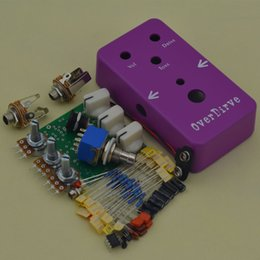 Box effects pedal online shopping - DIY T Screamer Overdrive Effect pedal Kit PCB and All the parts BOX OD2