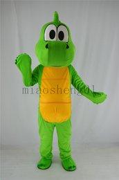 Großhandel Ostern heiß !!!! Kostüm-Maskeradekostümklage des grünen Drachemaskottchens freies Verschiffen