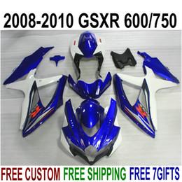 $enCountryForm.capitalKeyWord Australia - ABS fairing kit for SUZUKI GSX-R750 GSX-R600 2008 2009 2010 K8 K9 blue white black fairings set GSXR 600 750 08-10 TA26