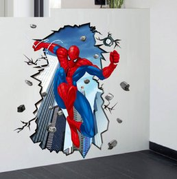 Wholesale Details about Super Hero Spider Man Mural D Wall Sticker DIY Art Vinyl Decal Kids Boy Room Decor