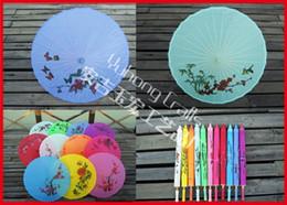 $enCountryForm.capitalKeyWord Canada - 5pcs lot Free shipping Hand-painted Chinese parasol Folk Art traditional Umbrella Wooden Handle Bamboo Frame Silk Umbrella