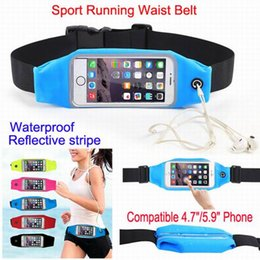 Wholesale Universal Sports Waterproof Phone Pockets Waist Belt Armband Bag Cases Pouch With Clear View Touch For iPhone s Plus Galaxy s5 S6 Edge