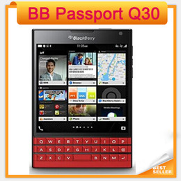 passport accessories Canada - BlackBerry passport Q30 4G TLE cell Phone BlackBerry OS 10.3 Quad core 3GB RAM 32GB ROM 13MP Camera Original phone