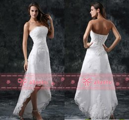 Robe De Mariée Simple À Bas Prix Pas Cher-Hot Sale New Cheap Full Lace Salut-lo Robe bustier autocollantes Salut-lo Backless blanc de mariage Robes de mariée CPS110