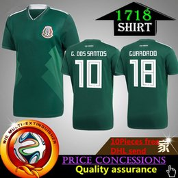 fb28d7f3369 ... Discount mexico soccer shirts wholesale 2018 World Cup Mexico Soccer Jersey  Home Away 18 Green CHICHARITO Mens ...