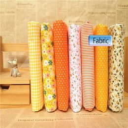 $enCountryForm.capitalKeyWord Canada - mixed 7design yellow orange whit Printed Cotton Fabric plain weave for Handmade Sewing Material Patchwork Curtain Needlework DIY 25 50cm new