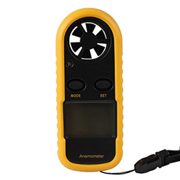 Chinese  Wholesale-New GM816 30m s (65MPH) LCD Digital Handheld Air Wind Speed Velocity Meter Measure Pocket Smart Anemometer Anemometro anemograph manufacturers