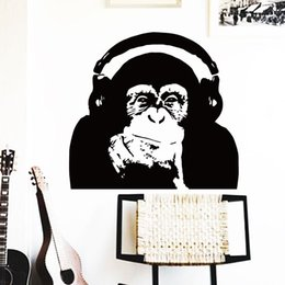 $enCountryForm.capitalKeyWord Canada - wall art horse home decoration Vinyl Caesar monkey music Wall Sticker Rise of the Planet of the Apes orangutan room decor decals