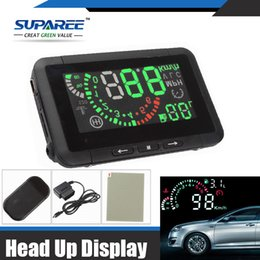 Fuel Consumption Display NZ - Wholesale-Hottest 1 Set Car HUD Head Up Display Vehicle-mounted Security System OBD2 Interface Overspeed Warning Fuel Consumption W01