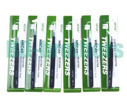 Pinzas VETUS negras HRC40 Pinza antiestática de acero inoxidable ESD 10 11 12 13 14 15 para reparación de teléfonos Reparación de herramientas de reparación 120 piezas en venta