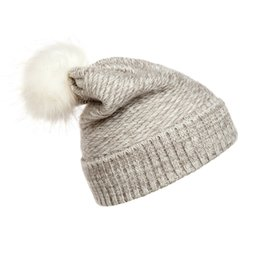 Free knitted hats For girls online shopping - Knitted Pompom Hats Woman Gift Lovely Keep Warm Beanie Windproof Fashion Lady Winter Cap For Hot Sale lz C