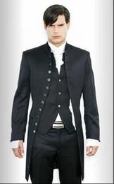 New Stylish Suit Three Piece Canada - New Mens stylish slim fit wedding Dress Suit Vest pants (Clothes+Pants+Vest+Tie)