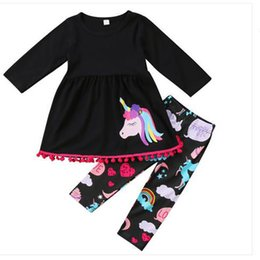 f7b2a8f16 Wholesale Baby Clothes Boutique Canada - Unicorn Print Stella Boutique  Clothing Set Sweet Little Girls Top