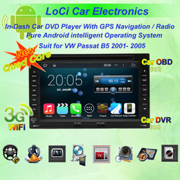 Vw Stereos Android Canada - Car dvd Multimedia radio android player for VW volkswagen Passat B5(MK5) 01- 05,autoradio CD, gps navigation,Pure android 4.4.4, Quad Core