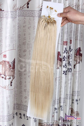 "Hair Loops 18 22 NZ - Superb 18""-22"" 100s pack Silicone Micro Loop Rings Hair Extensions 50g #24 Natural Blonde Real Brazilian Straight Remy Human Hair"