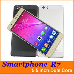 5.5 inch R7 MTK6572 Dual Core Android 4.4 smart phone Mobile Dual SIM Camera 512 4GB 3G WCDMA Unlocked gesture Free shipping Leather case
