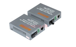 Convertidor de medios ópticos de fibra al por mayor 10 / 100Mbps RJ45 Puerto de modo único SC 25KM Convertidor de medios HTB-3100A / B 1Pair