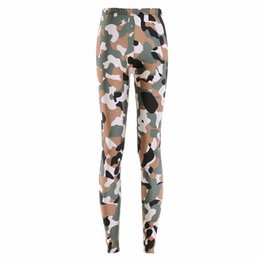 Army Yoga Pants UK - 2017 NEW 3180 Army Digital CAMO camouflage Prints Sexy Girl Pencil Yoga Pants GYM Fitness Workout Polyester Women Leggings Plus Size