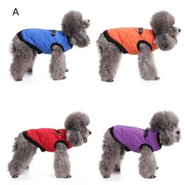extra warm sweatshirts Canada - Warm Winter Pet Dog Cotton Coat Jacket Clothes Zipper Jacket Vest Harness Puppy Apparel Dog Sweater Shirt Clothing for Dog