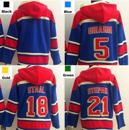 blank hockey hoodies NZ - 2016, Cheap 5 Dan Girardi 21 Derek Stepan 18 Marc Staal blank New York Rangers Hoodie Old Time Hockey Jersey Hoodie Sweatshirt