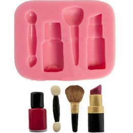 $enCountryForm.capitalKeyWord Canada - New Arrival Silicone Mold Woman Makeup Cosmetic Lipstick Baking Fondant Cake Docarating Cooking Tools Sugar craft paste TY1715