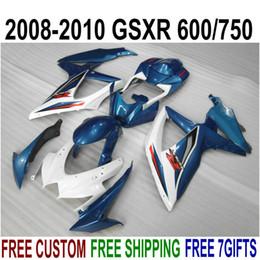 $enCountryForm.capitalKeyWord Australia - High quality ABS fairing kit for SUZUKI GSXR750 GSXR600 2008-2010 K8 K9 green white fairings set GSXR600 750 08 09 10 FA30