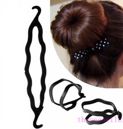 braided buns black hair Canada - Magic Hair Pony Tail Maker Plastic Hair Styling Bun Maker Shaper Braid Holder Clip Twist Tool Hair Twist Styling Clip