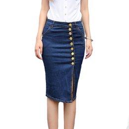 Discount Button Front Denim Skirt | 2017 Button Front Denim Skirt ...