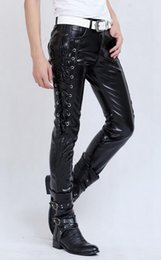 Fashion Trends Hair Canada - Han edition cultivate one's morality men's winter fashion new add hair thickening trend nightclub black leather pants. S-XL