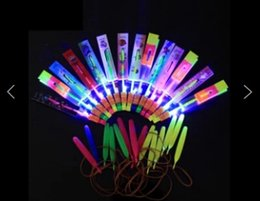big helicopters Canada - 600pcs lot Free Shipping DHL Newest LED Amazing Flying Arrows Helicopter Umbrella Light Parachute Kids Toys