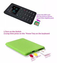$enCountryForm.capitalKeyWord NZ - AEKU M5 Card Mobile Phone 4.8mm Ultra Thin Pocket Mini Phone Low Radiation Positioning Micro SIM Child Mobile Phone
