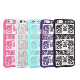 be576a77ba1 Nuevo elefante basso-relievo para iPhone 6s 6 más alivio de la PC caso de  la contraportada para ipnone6 mejor regalo al por mayor