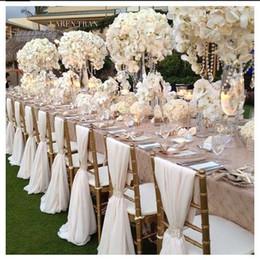 Romantico Chiffon Wedding Party Anniversary Chair Sash Party Decorazioni per banchetti 20 pezzi / set Wedding Chair Sash 150cmx50cm in Offerta