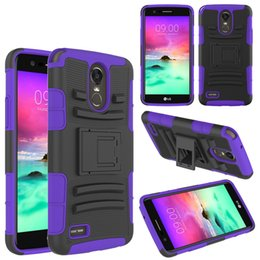 Clear Rugged Cases NZ - Rugged Protective Shockproof Belted Phone Cases for LG Stylos3 Stylus3 Lg Stylos2 Ls775 LGV10 V20 K10 2017 Covers Cases