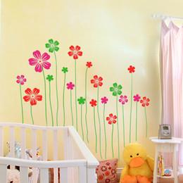 $enCountryForm.capitalKeyWord Canada - Exuberant Flowers Wall Art Mural Decor Window Glass Decal Sticker Living Room Bedroom Fashion Flowers Applique Decor Graphic