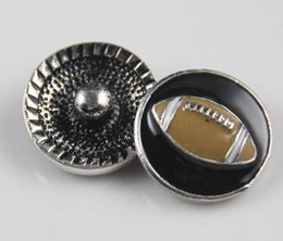 $enCountryForm.capitalKeyWord Canada - 20mm fashion wholesale retail unisex Women men football shaped button Charm Snaps Style leather Bracelet
