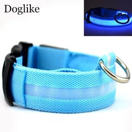 Chinese  Safety Pet Collar For Dog LED Glow Necklace Pet Products For Animals Pet Shop Electric Lighted Up Nylon Cat Solid LED Dog Collar manufacturers